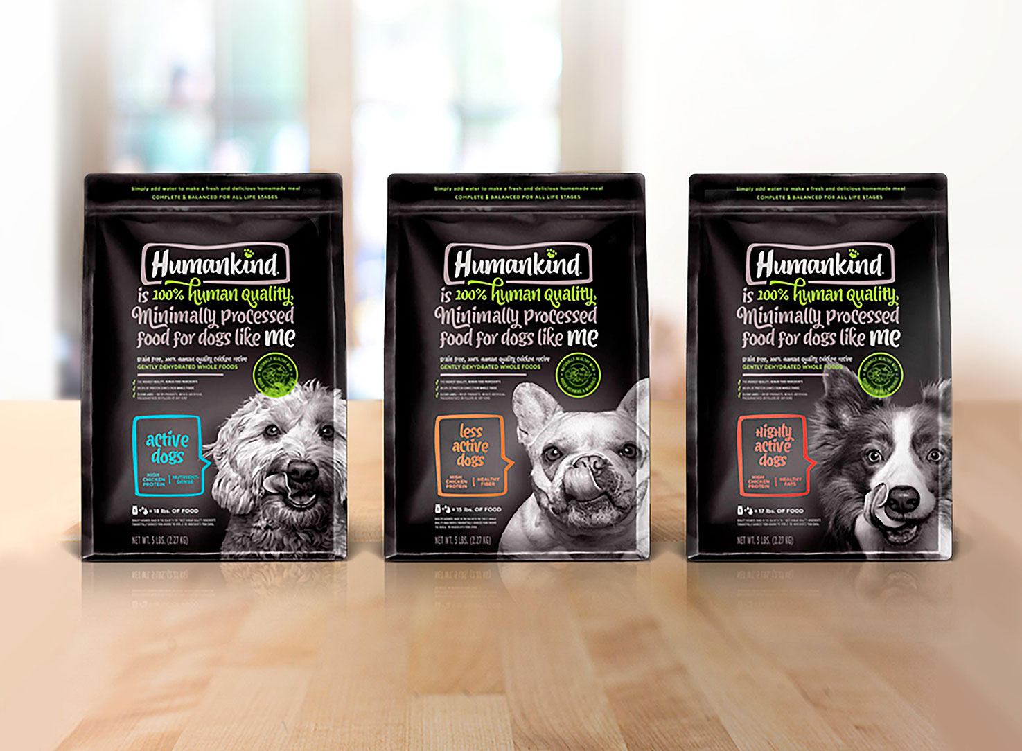 HumanKind Dog Food Packaging